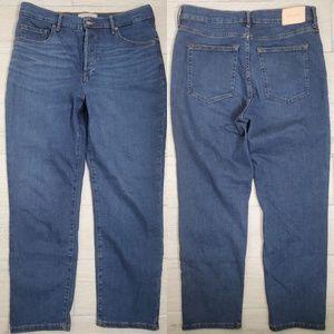 •EVERLANE• High Rise Slim Straight Ankle Jeans.